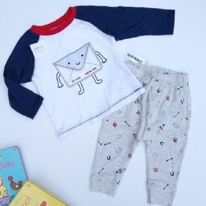 Old Navy baby boy Valentine's outfit 6-12 mo